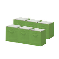 multi finish high density fabric with double handles cute storage containers