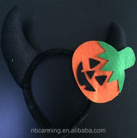 Halloween headband/Halloween animal ear headband/ cheap Halloween headband with pumpkin
