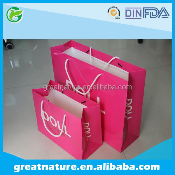 Different types of paper bags with your own logo