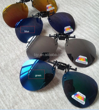 Blue Yellow Green Silvery Coating Sunglasses Clip on Myopia Glasses For Fishing Driving Traveling Oculos Flip Up Sunglass Clip