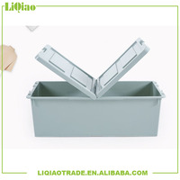 Extra large colorful plastic storage box with bothway foldable lid below th bed