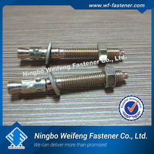 China manufacturers suppliers exporter GI M10 wedge anchor/through bolt