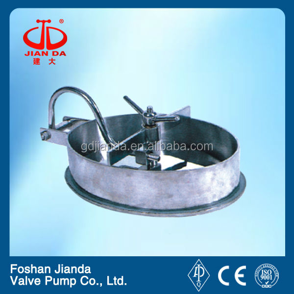 sanitary stainless steel manhole cover model yac
