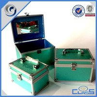 MLD-CC772 Green Custom Professional Strong Power Aluminum Fashion Cosmetic Hard Case