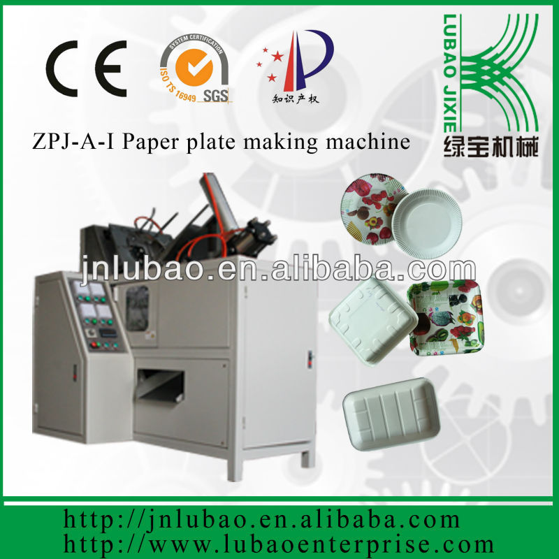 ZPJ-A-I paper tray making machine paper plate and tray processing equipment for food