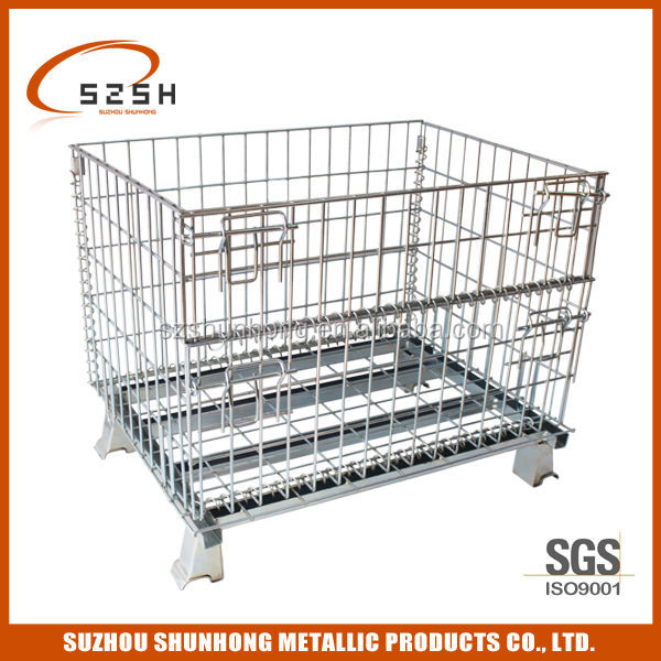 Metal Steel Storage Cage with wheels on sale