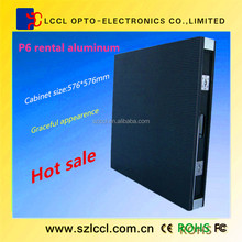Hot selling !!! 2014 new invention LED solution high quality full color p6 led rental display
