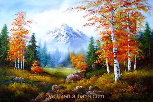 Factory supply handmade Artwork High quality landscape paintings ct-18
