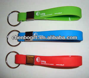 OEM Design Silicone keychains, silicone bracelet key chain, silicone strip key chain