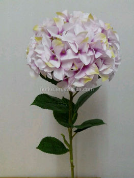 2014 top quality artificial hydrangea flower for home dec