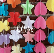 wedding souvenirs paper garland paper garland party decorations