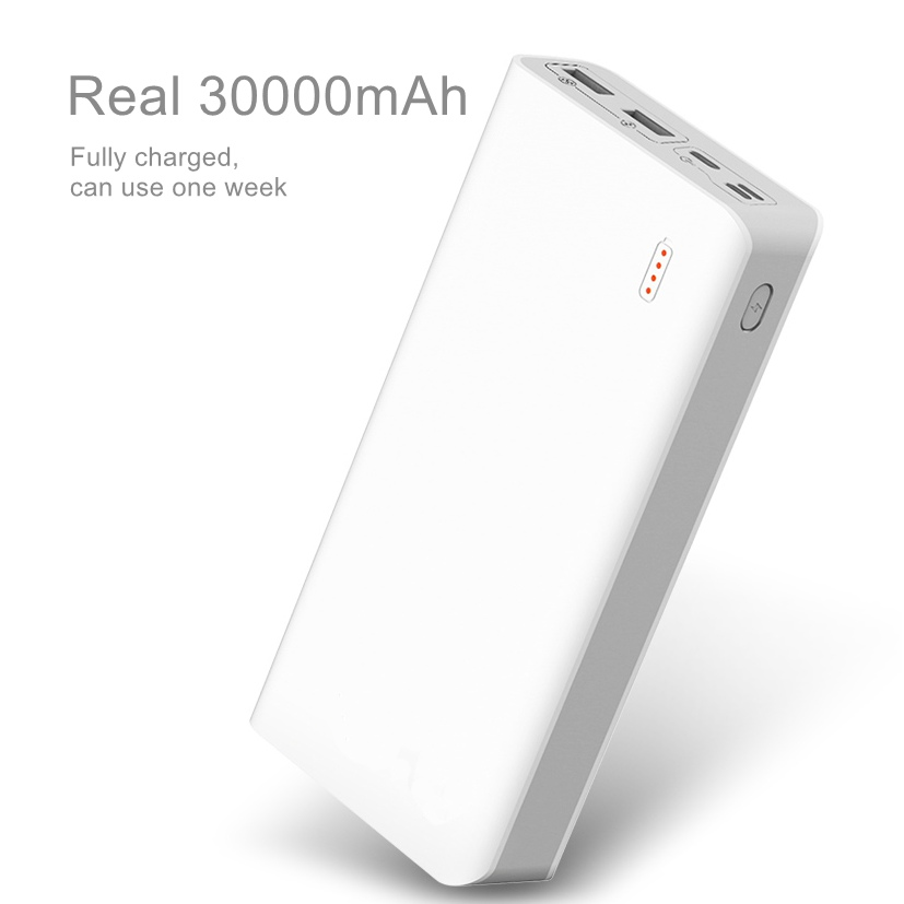 Dropship Amazon Lazada Ebay 10000mAh type-c mini portable palm size power bank with 2 usb outputs
