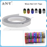 ANY DIY Nail Art Decoration Silver Color Wave Line Nail Sticker Wholesale