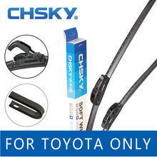 CHSKY Car Windshield Wiper Blade for Toyota Corolla Avensis RAV4 Camry Verso 2 Prius Land Cruiser Auris Windscreen Wipers