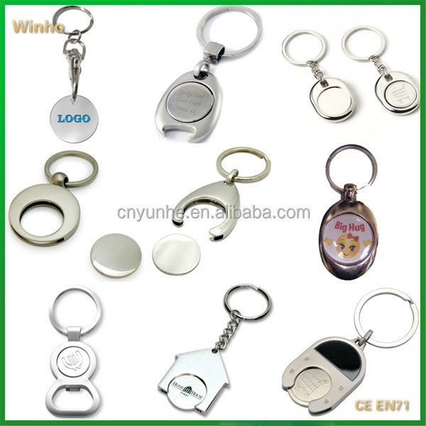 Personalised Trolley Coin Keyrings with Logo