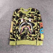 Selling couple sweater pullover sweater, shark pattern camouflage sweater