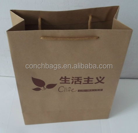 Manufacturer Handle Kraft Packaging Gift Wedding Black Shopping Paper Bag With Your Own Logo