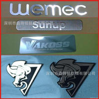 Best quality hot sale boutique self adhesive metal nameplate