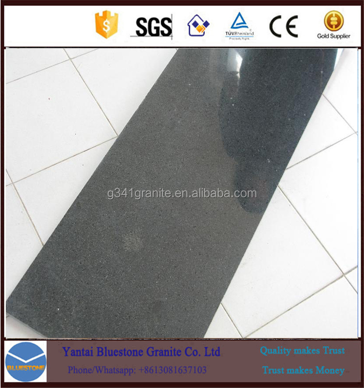 absolute black honed G370 granite exterior paving black stone sett with top quality