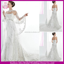 SD967 description of wedding dress alibaba with shawl A line lace wedding dress patterns