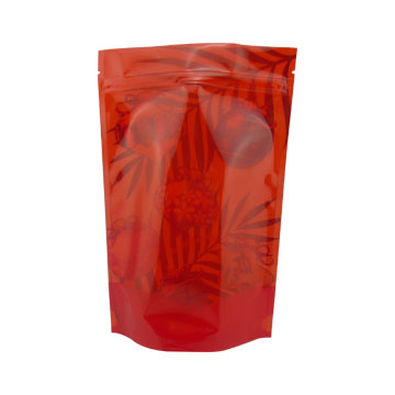 Custom printed ziplock bag zipper bag stand up pouch fruit pulp packing