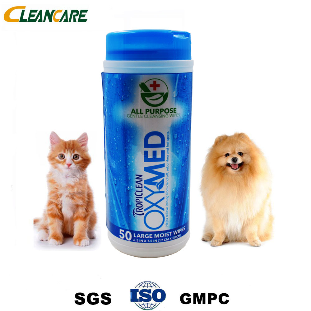 OEM Service Disposable Pet Cleaning Wet Wipes With Good Quality