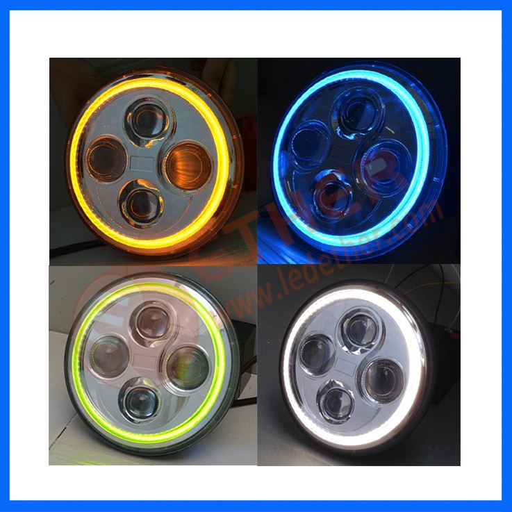 7 inch Round LED Headlight Meet ECE/DOT/SAE Standard Jeep wrangler haedlight motor headlight
