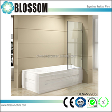 customized size 10mm glass shower bath screens shower doors
