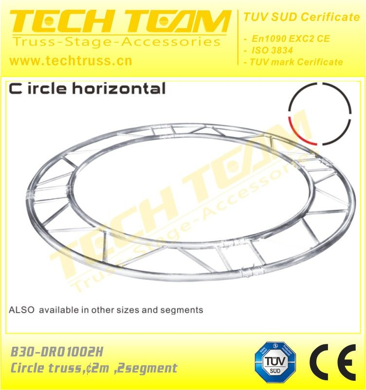aluminum tube truss Flat or Square circle Truss circle truss system