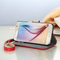flid high quality cotton wallet cell phone case cover for samsung