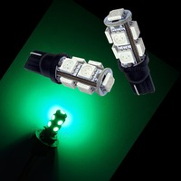 12V T10 194 9SMD 5050 LED Car Auto Turn Light /Side Marker LED Bulbs Motorcycle GREEN taillight