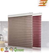 Electric Triple Layer Fabric Motorized Shangri-la Blinds