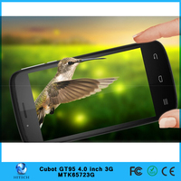 Hitech Original Cubot GT95 MTK6572 Dual Core Mobile Phone 4GB ROM Android 4.2.2 Smartphone 4.0Inch CellPhone