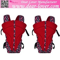 China Red Floral Print Insert Comfy Baby Wrap Carrier