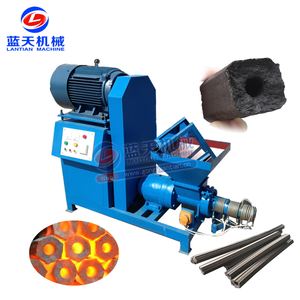 Screw type wood press briquette machine
