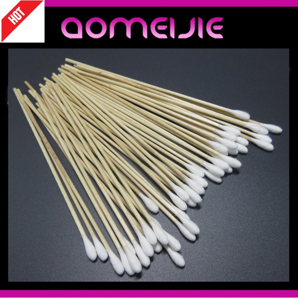 different sizes wooden cotton swab for wound care