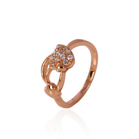 11229-xuping wholesale new arrival copper shiny elegant wedding rings rose gold plated