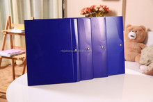 folding A4 executive file folder with knot closure