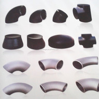 carbon steel butt welded oil and gas pipeline pipe fittings