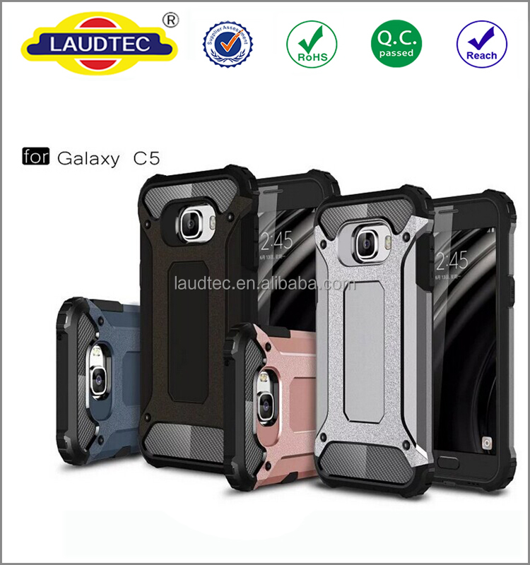 2 in 1 360 degree protective shockproof Armor back cover case for Samsung galaxy C5