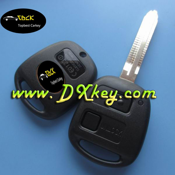 Best Price 2 buttons remote car key use for toyota car remote key 433 mhz 4d67chip toyota prado remote key