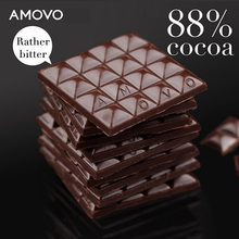 AMOVO 88% cocoa mass wholesale imported handmade dark candy chocolate