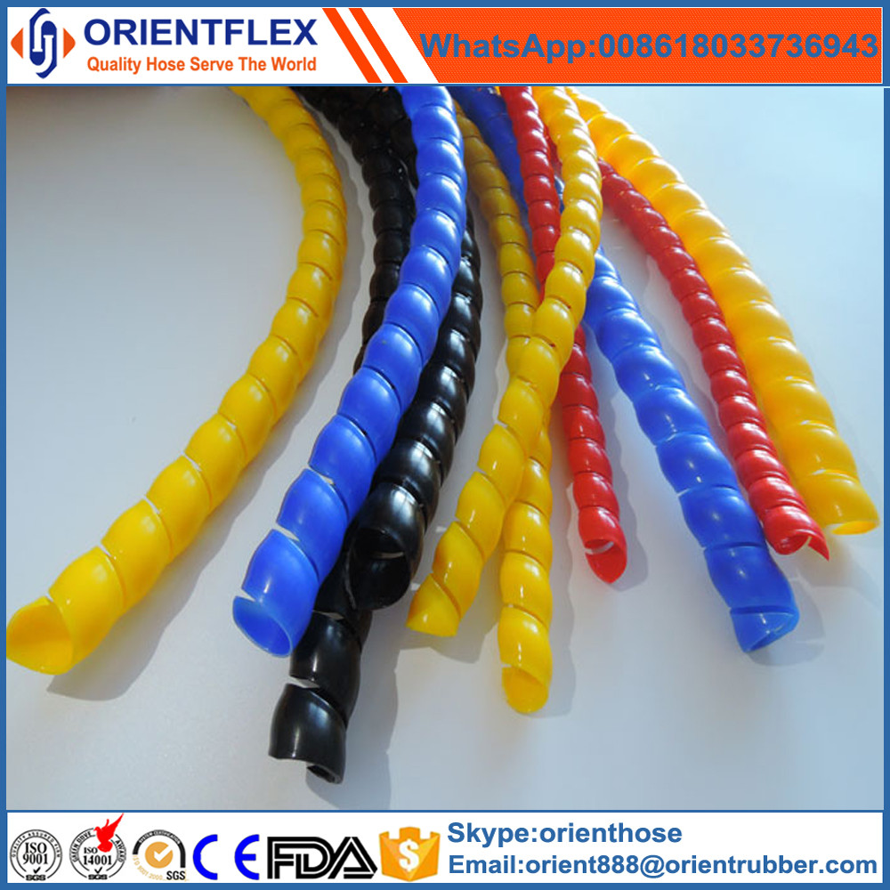 flexible spiral plastic hose guard/hydraulic hose protector