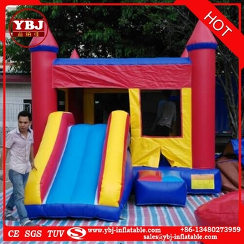 2017 inflatable bouncer house with slide /iinflatable jumping castle