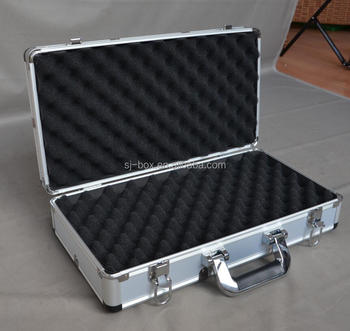 Hot sale Sliver Aluminum locking hard carrying short gun case