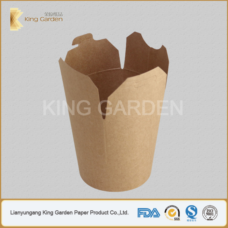 King Garden Pasta Hot Boxes made of Kraft Paper Materials