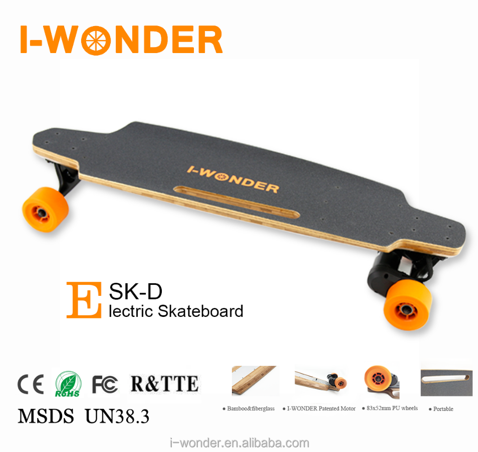 SK-D2 Dual Drive 1200W DC Brushless Motorized Skateboard/Hall Sensor/Wireless Remote Control