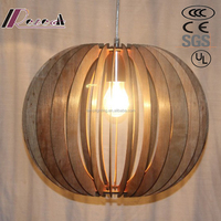 E27 Wooden Hanging Pendant Lamps Interior