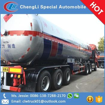 China Hot 50CBM lpg Traction semi-trailer lpg tank container trailer for sale
