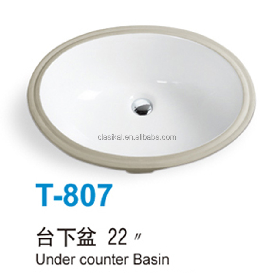South American standard best quality lowest price under counter wash basin
